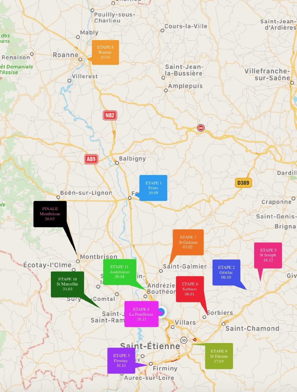 Circuit Jeunes Loire saison 2018-2019