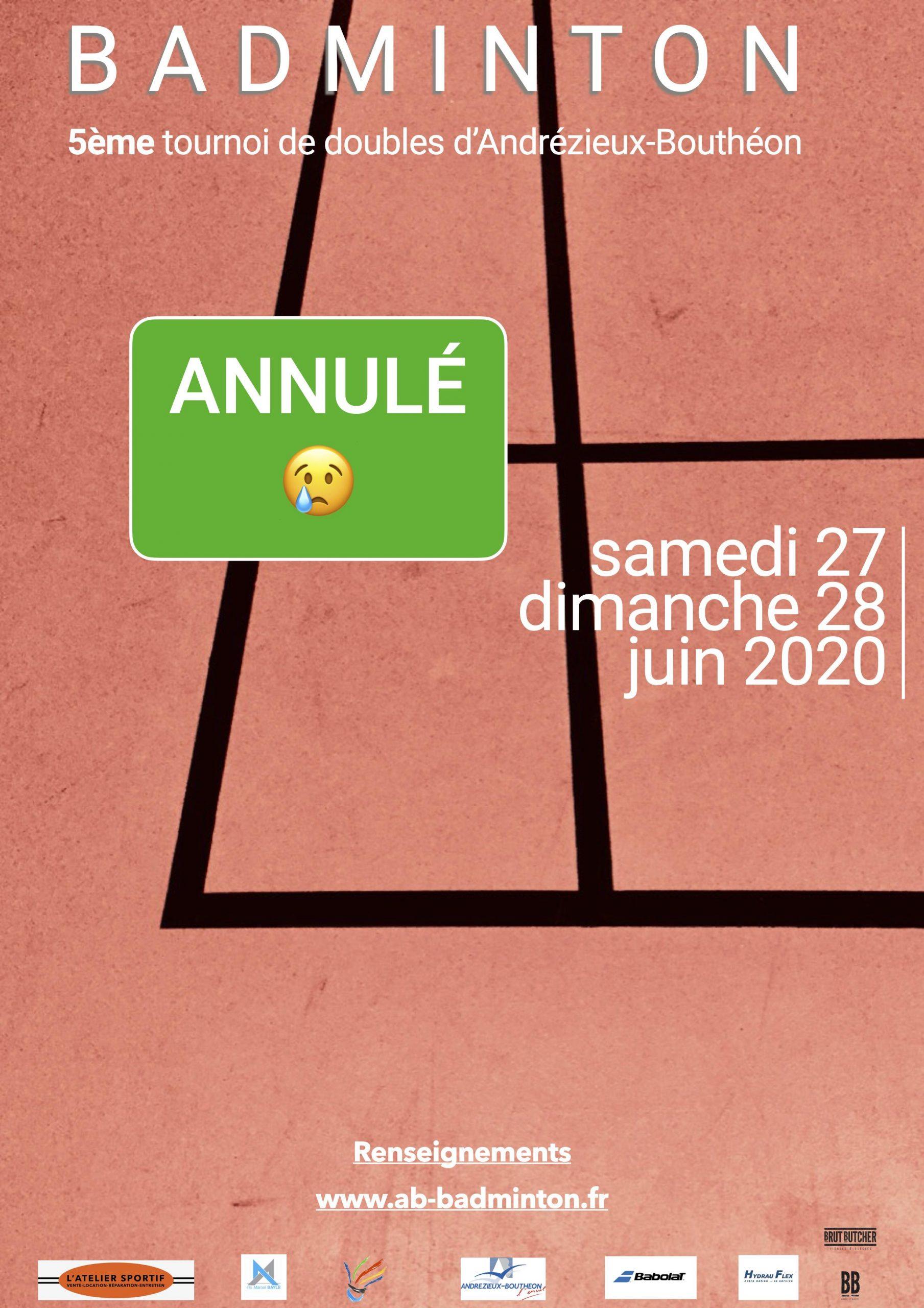 5ème tournoi de doubles Andrézieux-Bouthéon